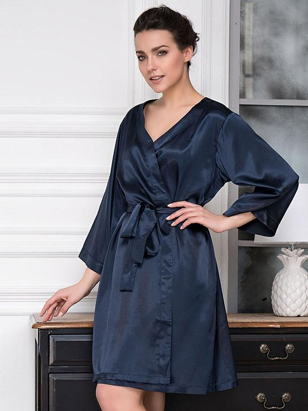 "MiaMia atlassist hommikumantel ""Classic Dark Blue"""